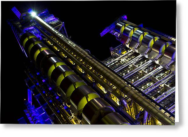 Banker Greeting Cards - Lloyds Building London Greeting Card by David Pyatt