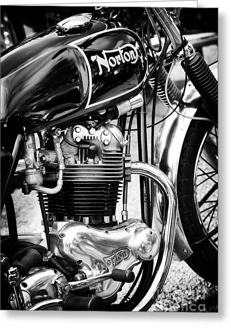 Commandos Greeting Cards - 850cc Commando Monochrome Greeting Card by Tim Gainey