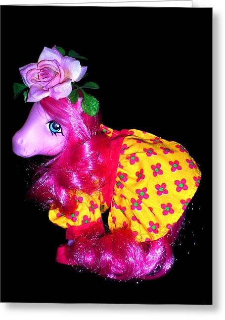 My Little Pony Heart Throb Greeting Card by Donatella Muggianu