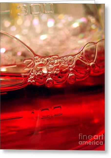 Laboratory Equipment In Science Research Lab Greeting Card by Olivier Le Queinec