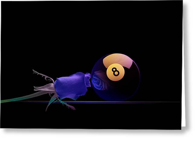 8ball Greeting Cards - 8Blues Greeting Card by Draw Shots