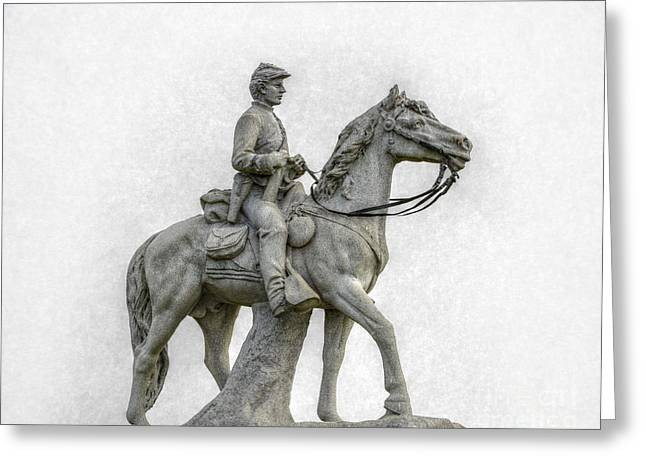 Stone Sentinel Greeting Cards - 8th Pennsylvania Cavalry Gettysburg Greeting Card by Randy Steele