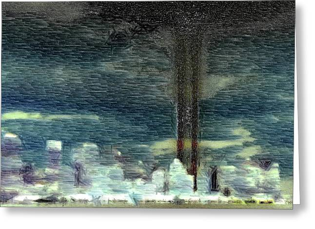 Nine Eleven Greeting Cards - 9 11 Memorial Greeting Card by Andrea Barbieri
