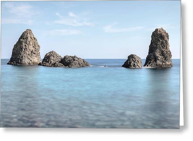Aci Trezza - Sicily Greeting Card by Joana Kruse