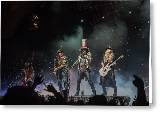 Babbitt Greeting Cards - Alice Cooper Greeting Card by Stephen Baruday