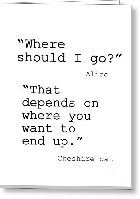 Alice In Wonderland Greeting Card by Sweeping Girl