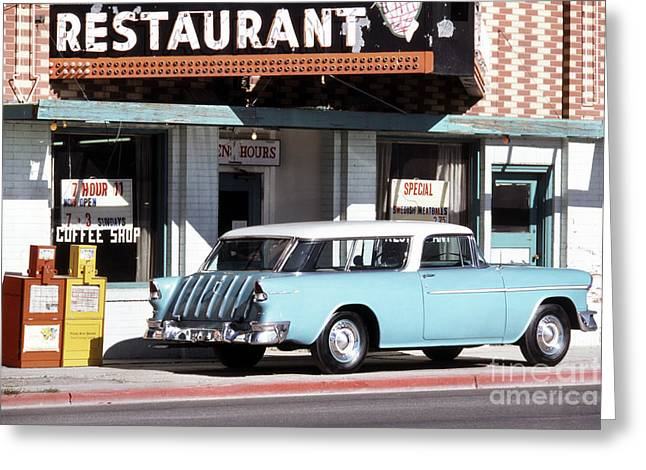 Station Wagon Greeting Cards - American Cars Greeting Card by Baron Wolman