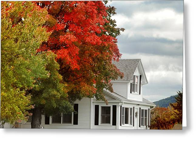 Farmhouse Greeting Cards - Autumn Series Greeting Card by HD Connelly