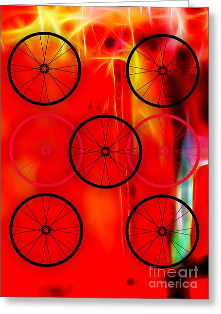 Bike Race Greeting Cards - Bicycle Wheel Collection Greeting Card by Marvin Blaine