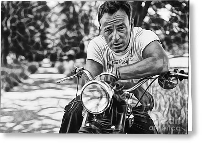 Concert Greeting Cards - Bruce Springsteen Collection Greeting Card by Marvin Blaine