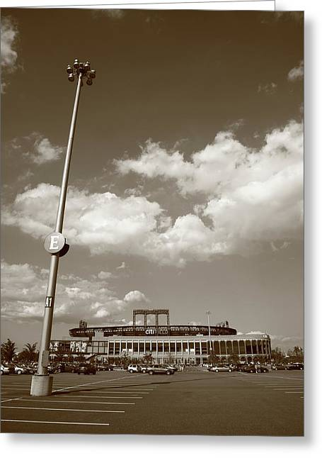 Ebbets Field Greeting Cards - Citi Field - New York Mets Greeting Card by Frank Romeo