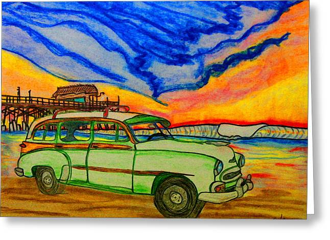 Cocoa Beach Pier Greeting Card by W Gilroy