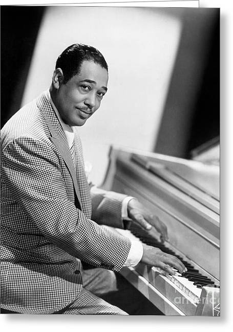 Man Greeting Cards - Duke Ellington (1899-1974) Greeting Card by Granger