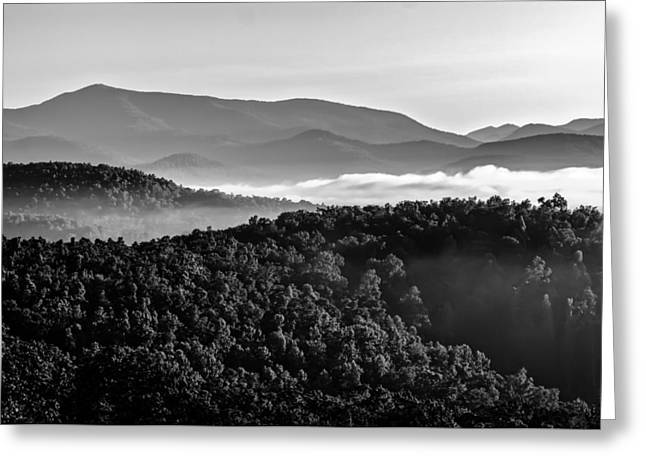 Mountain Valley Greeting Cards - Early Morning On Blue Ridge Parkway Greeting Card by Alexandr Grichenko