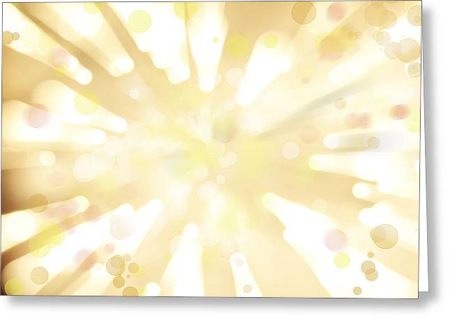 Burst Digital Greeting Cards - Explosive background  Greeting Card by Les Cunliffe
