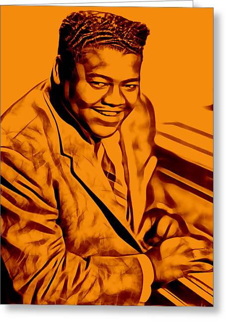Pop Mixed Media Greeting Cards - Fats Domino Collection Greeting Card by Marvin Blaine