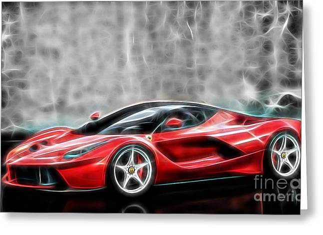 Racing Car Greeting Cards - Ferrari LaFerrari Greeting Card by Marvin Blaine