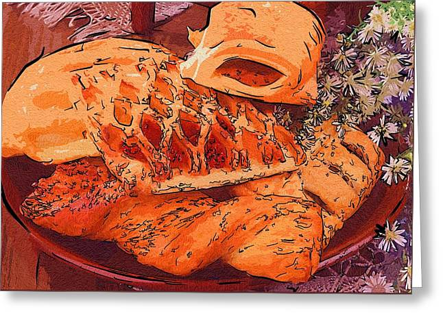 Local Food Digital Greeting Cards - For Food Fancier Greeting Card by Michael Vicin