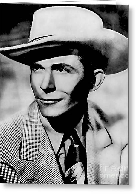 Country Music Greeting Cards - Hank Williams Collection Greeting Card by Marvin Blaine
