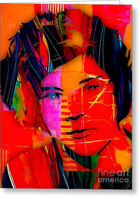 Pop Mixed Media Greeting Cards - Harry Styles Collection Greeting Card by Marvin Blaine