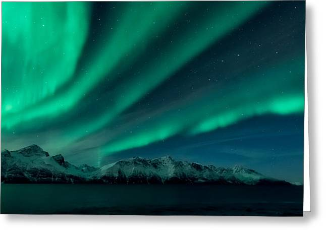 Northern Lights Greeting Cards - 9 In The Afternoon Greeting Card by Tor-Ivar Naess