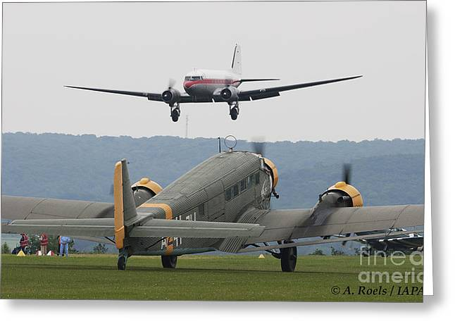 Ju 52 Greeting Cards - La Ferte Alais 2008 Greeting Card by Antoine Roels