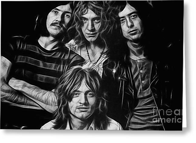 Robert Plant Greeting Cards - Led Zeppelin Collection Greeting Card by Marvin Blaine