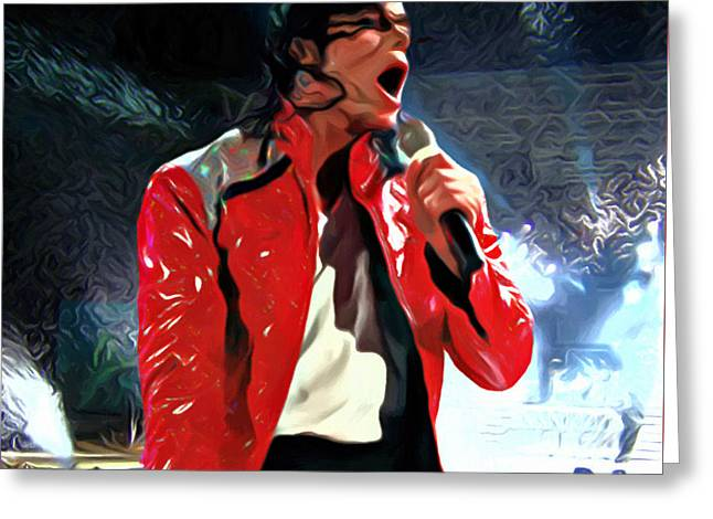 Moonwalk Digital Greeting Cards - Michael Jackson Art Greeting Card by Victor Gladkiy