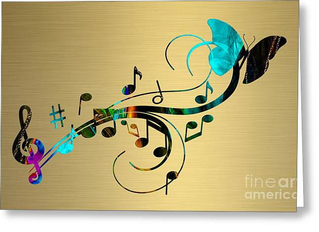 Musical Notes Greeting Cards - Music Flows Collection Greeting Card by Marvin Blaine