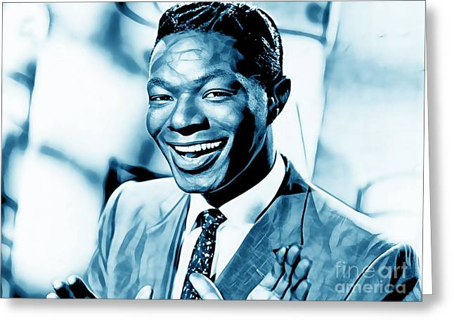 Pop Singer Greeting Cards - Nat King Cole Collection Greeting Card by Marvin Blaine