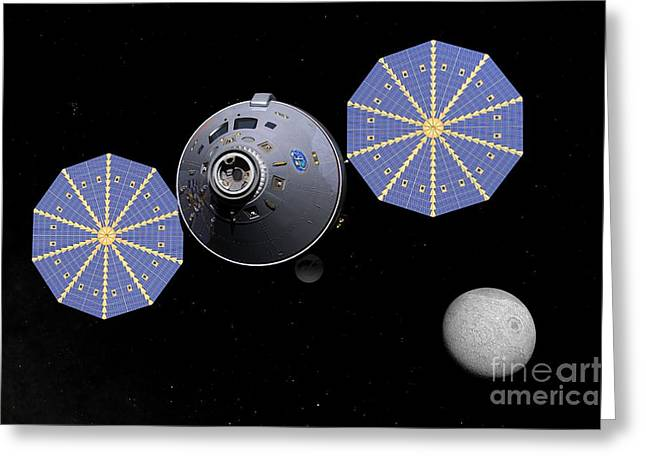 21st Greeting Cards - Next Generation Crew Capsule, Artwork Greeting Card by Walter Myers