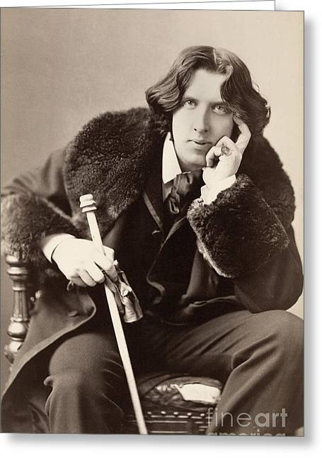 Wilde Greeting Cards - Oscar Wilde (1854-1900) Greeting Card by Granger