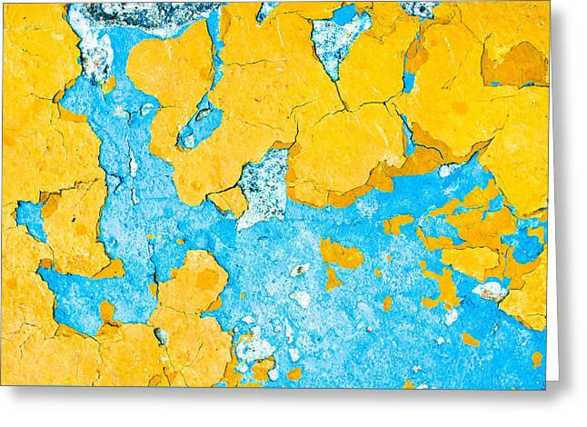 Defects Greeting Cards - Peeling paint Greeting Card by Tom Gowanlock