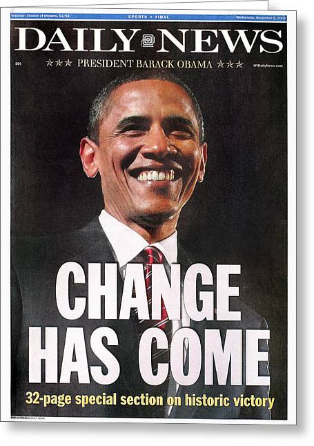 Hussein Greeting Cards - Presidential Campaign, 2008 Greeting Card by Granger