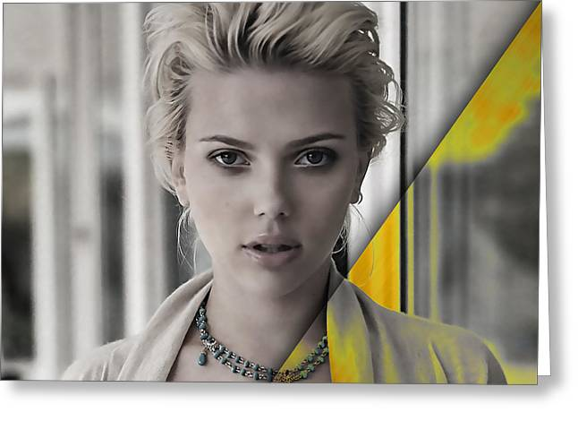 Scarlett Johansson Collection Greeting Card by Marvin Blaine
