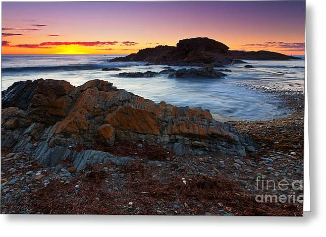 Fleurieu Peninsula Greeting Cards - Second Valley Sunset Greeting Card by Bill  Robinson