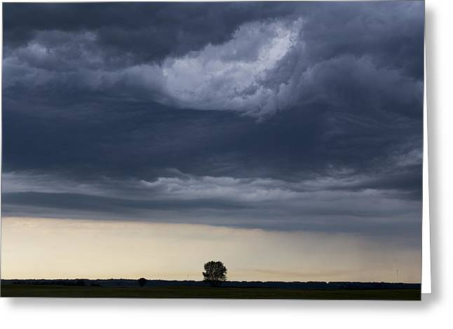 Summer Storm Greeting Cards - Storm Clouds Prairie Sky Greeting Card by Mark Duffy