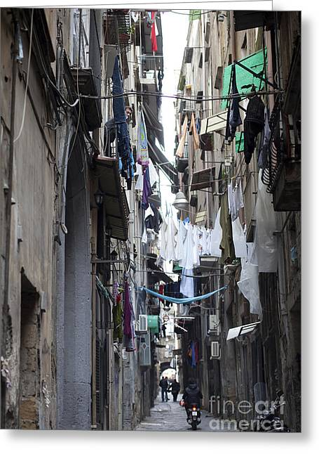 Old Pizza House Greeting Cards - Streets of Naples Greeting Card by Andre Goncalves