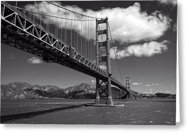 Famous Bridge Greeting Cards - The Golden Gate Bridge Greeting Card by Mountain Dreams