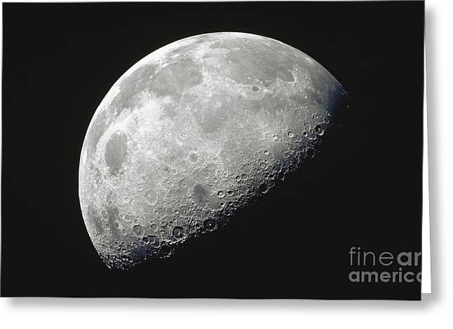 Lunar Surface Greeting Cards - The Moon Greeting Card by Stocktrek Images