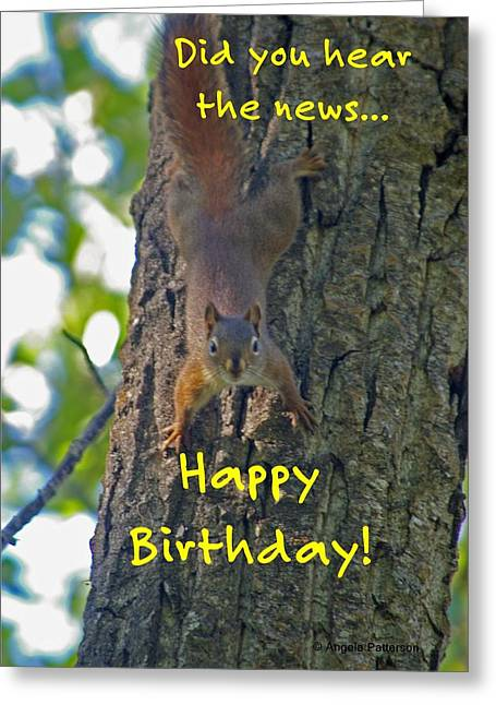 Wildlife Celebration Greeting Cards - Untitled Greeting Card by Angela Patterson