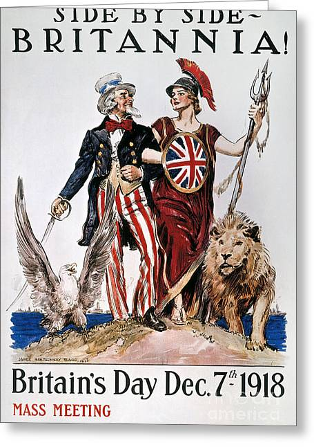 Flagg Greeting Cards - World War I: U.s. Poster Greeting Card by Granger