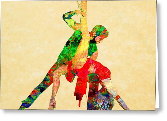Dancers Greeting Cards - Dance Greeting Card by Elena Kosvincheva