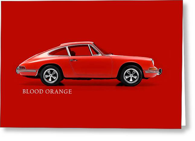 Cars Greeting Cards - 911 Blood Orange Phone Case Greeting Card by Mark Rogan