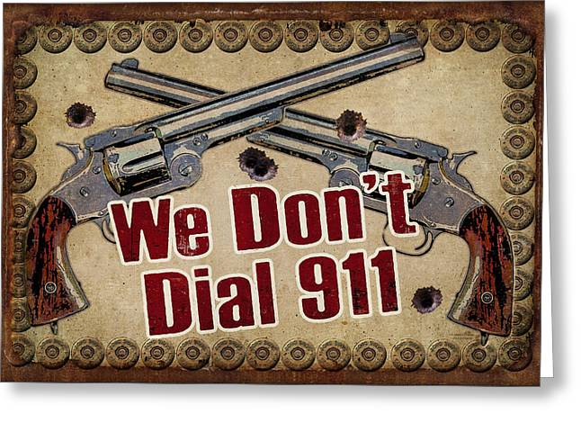 Pistol Greeting Cards - 911 Greeting Card by JQ Licensing