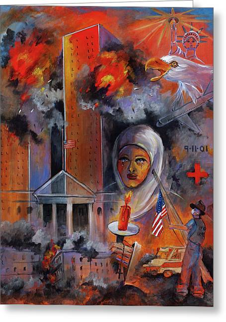 Bin Laden Greeting Cards - 911 Greeting Card by Mary DuCharme