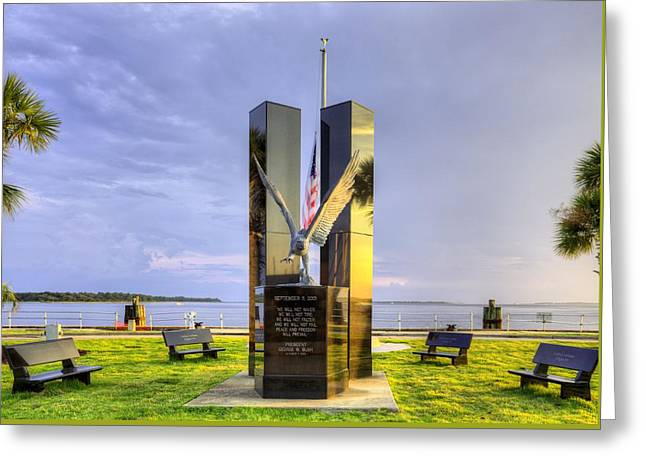 United We Stand Greeting Cards - 911 Memorial Greeting Card by JC Findley