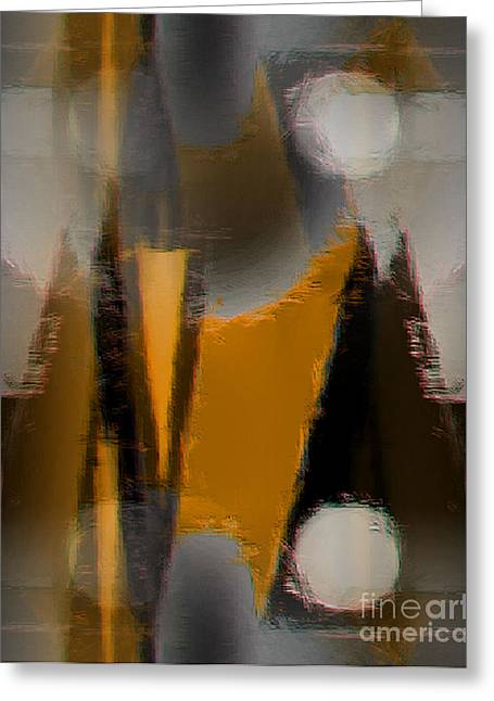 Abstract Expressionist Digital Greeting Cards - 94 Greeting Card by John Krakora