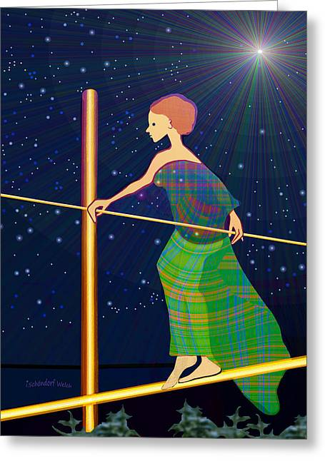 Achieve Greeting Cards - 958  -   Balance   Greeting Card by Irmgard Schoendorf Welch