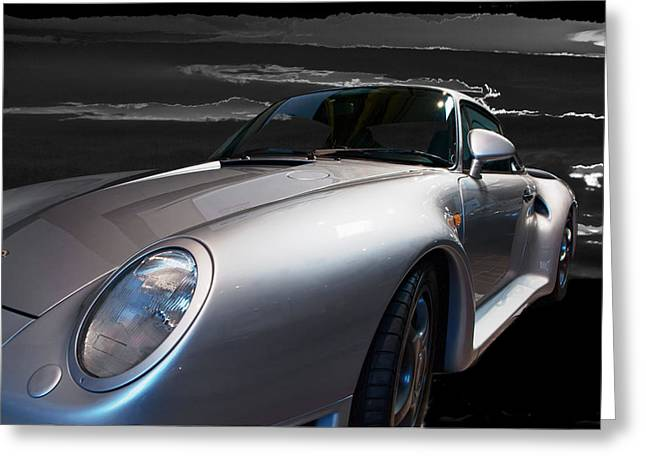 959 Porsche Greeting Card by Paul Barkevich